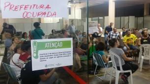 Grupo de cerca de 50 servidores vai dormir no prédio da Prefeitura | Foto: Jonathas Costa / OA