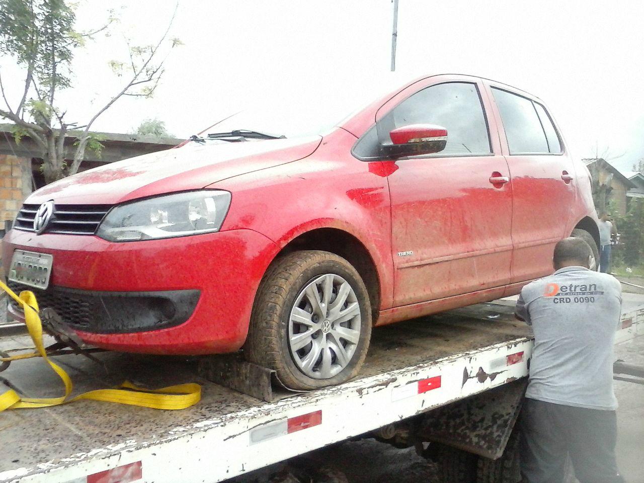 Carro recuperado pela Brigada Militar estava em ocorrência de roubo   Foto: 24º BPM / Divulgação / OA