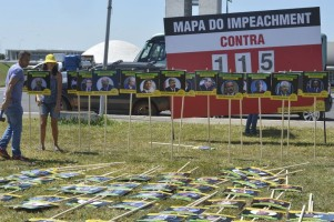 Placar do impeachment tem o objetivo de pressionar os deputados por votos favoráveis | Foto: Antonio Cruz / Agência Brasil / OA