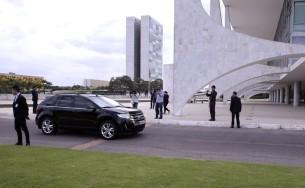 Presidente Dilma Rousseff chegou ao Palacio do Planalto nesta manhã | Valter Campanato/Agência Brasil/OA