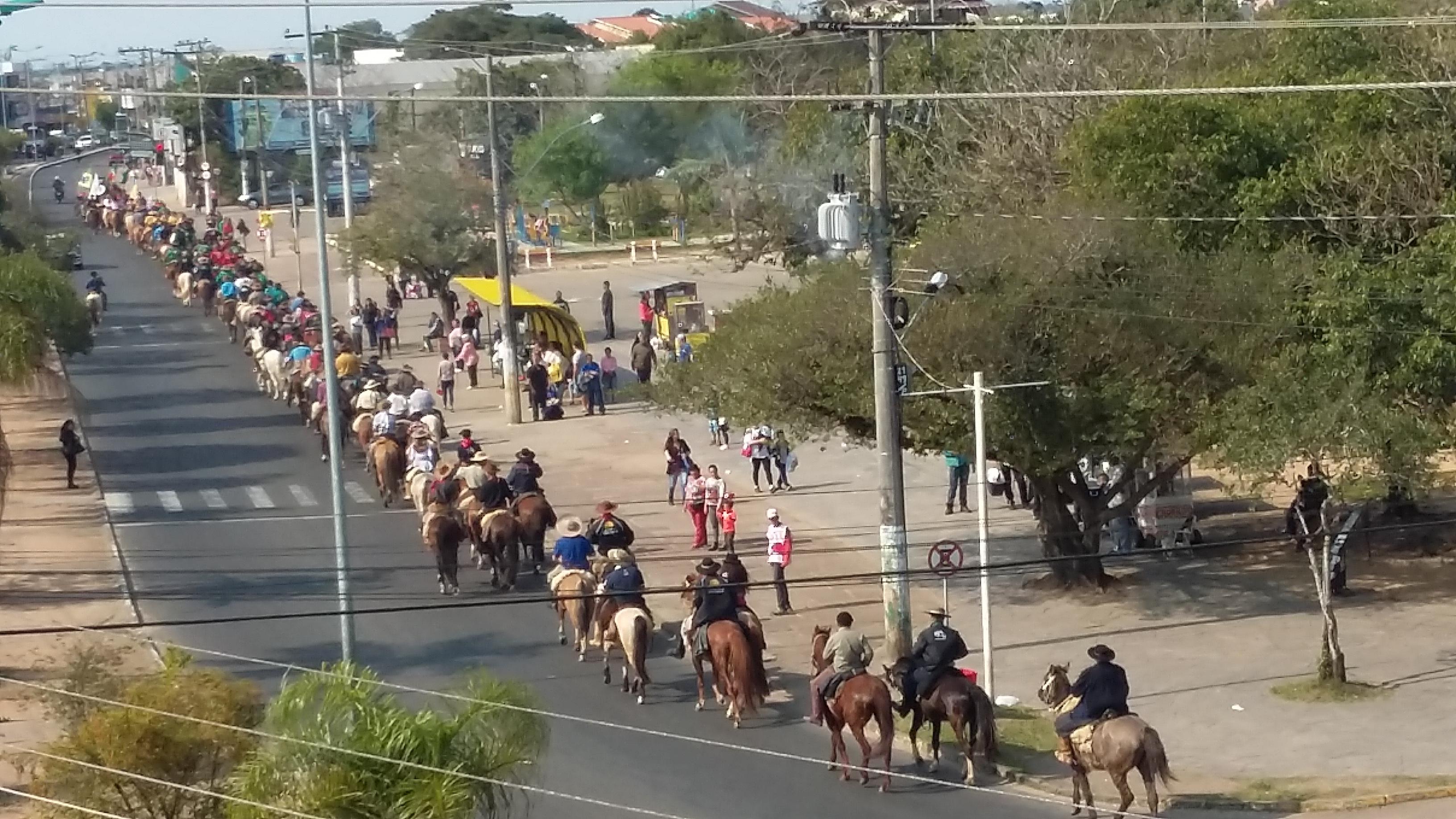 Cavaleiros de Alvorada saíram em busca da chama dia 10 e retornaram em 16 de agosto / Foto: Especial / OA