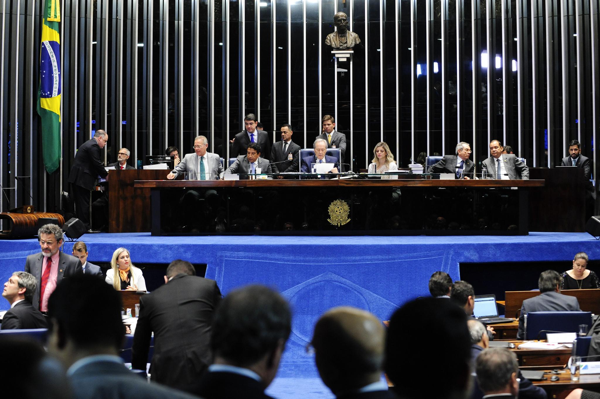 Sessão foi presidida pelo presidente do STF, Ricardo Lewandowski | Foto: Jonas Pereira / Agência Senado / OA