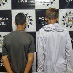 Dois acusados foram presos em Alvorada / Foto: Polícia Civil / Divulgação / OA